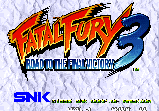 Fatal Fury 3: Road to the Final Victory title screenshot