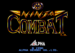 Ninja Combat title screenshot