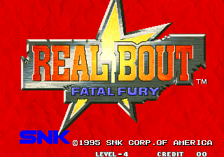 Real Bout Fatal Fury title screenshot