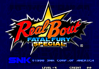 Real Bout Fatal Fury Special title screenshot
