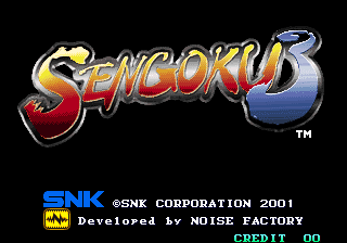 Sengoku 3 : Sengoku Legends 2001 title screenshot
