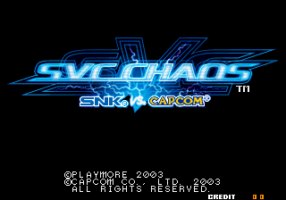 SNK vs. Capcom : SVC Chaos title screenshot
