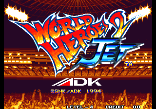 World Heroes 2 Jet title screenshot