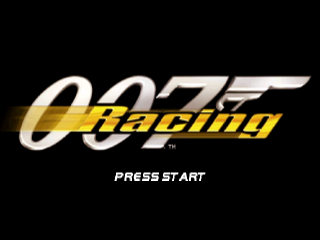 007 Racing title screenshot