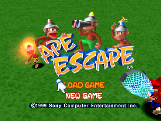 Ape Escape title screenshot