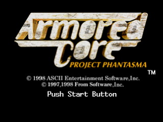 Armored Core - Project Phantasma title screenshot