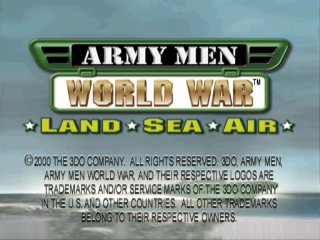 Army Men - World War - Land, Sea, Air title screenshot