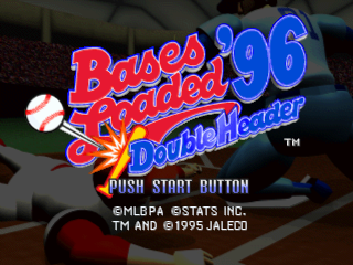 Bases Loaded '96 - Double Header title screenshot