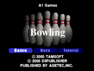 Bowling title screenshot