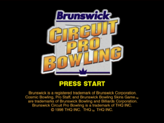 Brunswick Circuit Pro Bowling title screenshot