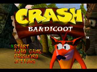 Crash Bandicoot title screenshot