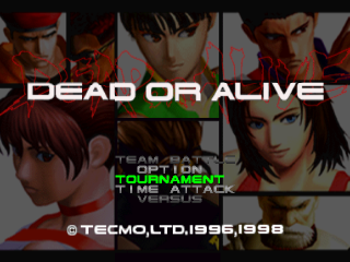 Dead or Alive title screenshot