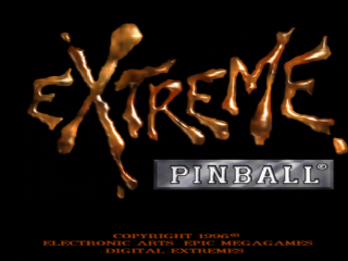 Extreme Pinball title screenshot