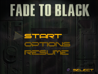 Fade to Black title screenshot