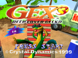 Gex 3 - Deep Cover Gecko title screenshot