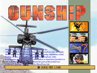 Gunship title screenshot