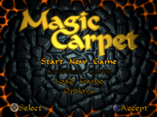 Magic Carpet title screenshot