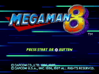 Mega Man 8 title screenshot