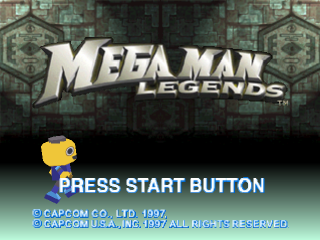 Mega Man Legends title screenshot