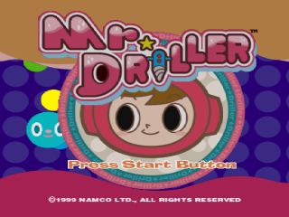 Mr. Driller title screenshot