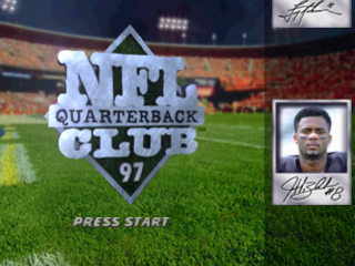 NFL Quarterback Club 97 title screenshot