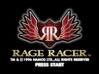 Rage Racer title screenshot