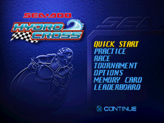 Sea-Doo Hydro Cross title screenshot