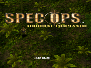 Spec Ops - Airborne Commando title screenshot