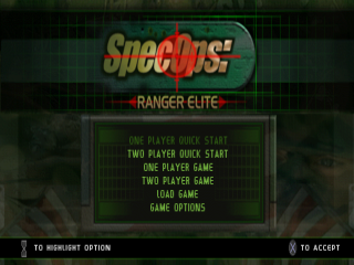 Spec Ops - Ranger Elite title screenshot