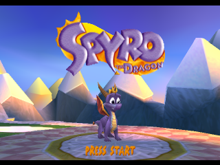 Spyro the Dragon title screenshot