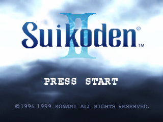 Suikoden II title screenshot