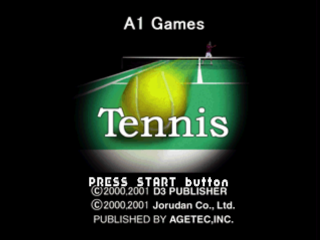 Tennis title screenshot