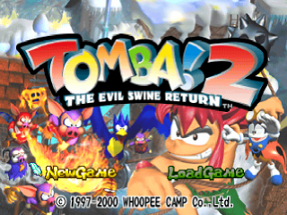 Tomba ! 2 - The Evil Swine Return title screenshot