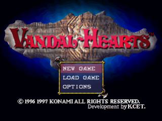 Vandal Hearts title screenshot