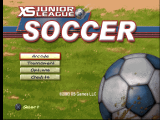 XS Junior League Soccer title screenshot