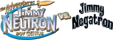 Adventures of Jimmy Neutron Boy Genius vs. Jimmy Negatron, The logo