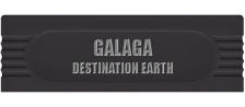 Galaga - Destination Earth logo