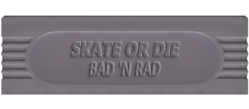Skate or Die - Bad 'N Rad logo