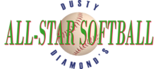 Dusty Diamond's All-Star Softball logo