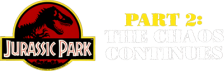 Jurassic Park Part 2 - The Chaos Continues  logo
