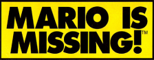 Mario Is Missing! logo