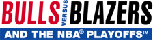 Bulls versus Blazers and the NBA Playoffs logo