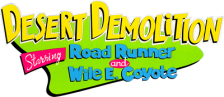 Desert Demolition Starring Road Runner and Wile E. Coyote logo