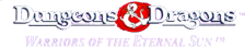 Dungeons & Dragons - Warriors of the Eternal Sun logo