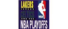 Lakers versus Celtics and the NBA Playoffs logo