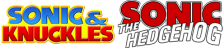 Sonic & Knuckles + Sonic The Hedgehog logo