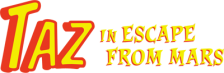 Taz in Escape from Mars logo