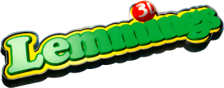 3D Lemmings logo