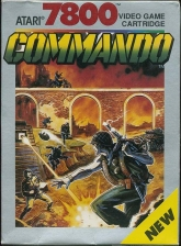 Commando Atari 7800 cover artwork