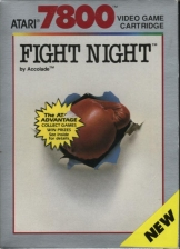 Fight Night Atari 7800 cover artwork